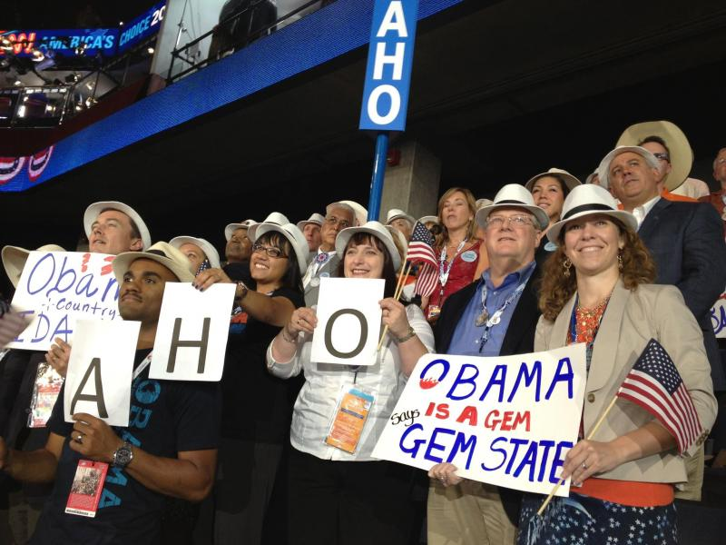 Idaho's delegation to the 2012 Democratic National Convention.