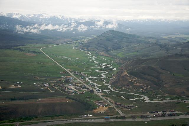Aerial view of Stanley, Idaho