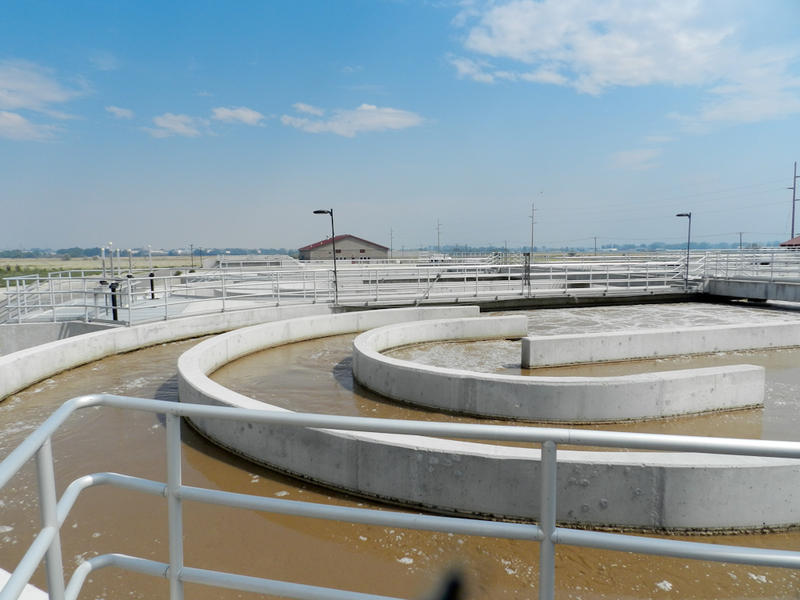 This is the new municipal wastewater treatment plant. The Burly wastewater plant officially opened in 2007. It has been used to treat industrial waste until a more permanent fix can be put in place.