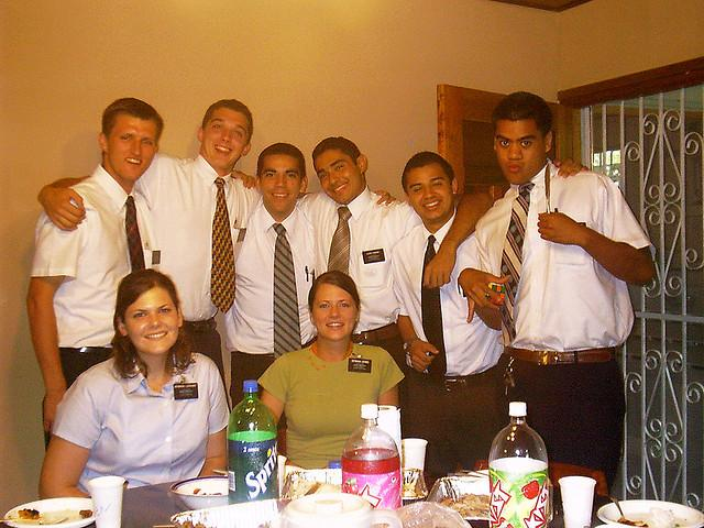 LDS Missionaries in Panama celebrate Thanksgiving in 2005.