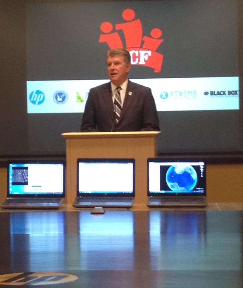 Governor Butch Otter and others announced the contract at HP's Boise campus Tuesday.