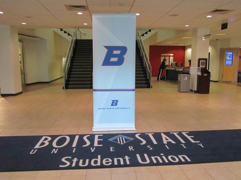 The new and old Boise State logos will exist side by side until September.