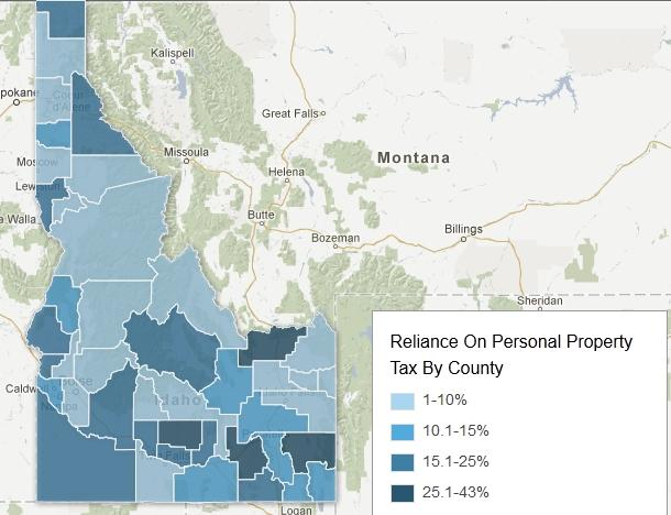 Personal Property Tax Map