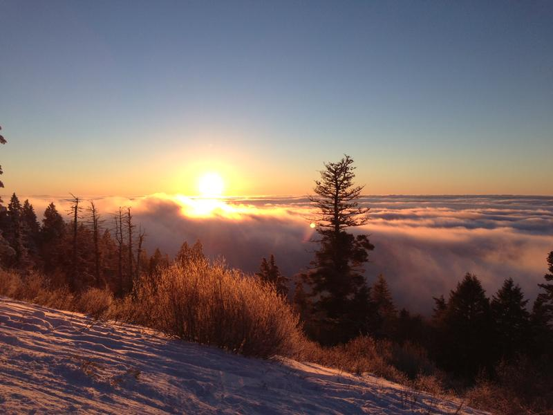 A view of the Treasure Valley's inversion from atop Bogus Basin.