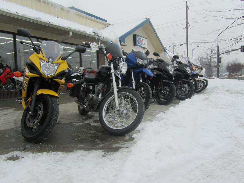 Motorcycles are hard to sell in January. Their tires don't do well in cold and icy conditions.