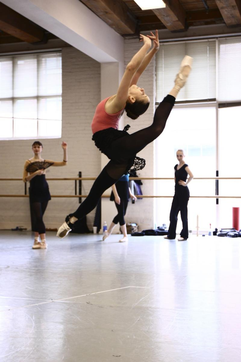 The ballet Don Quixote is full of flashy, gravity defying movements.