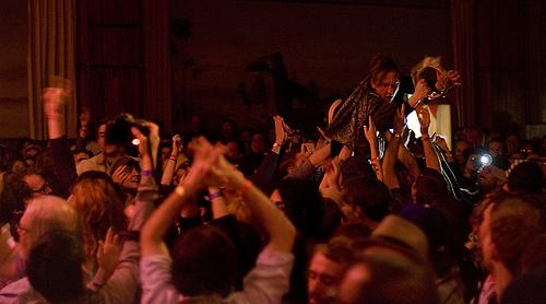 Foxygen performed for a packed crowd at El Korah Shrine, a new venue this year.