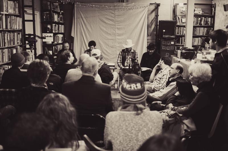 A packed crowd attended an early reading of the script at Boise's Hyde Park Books.