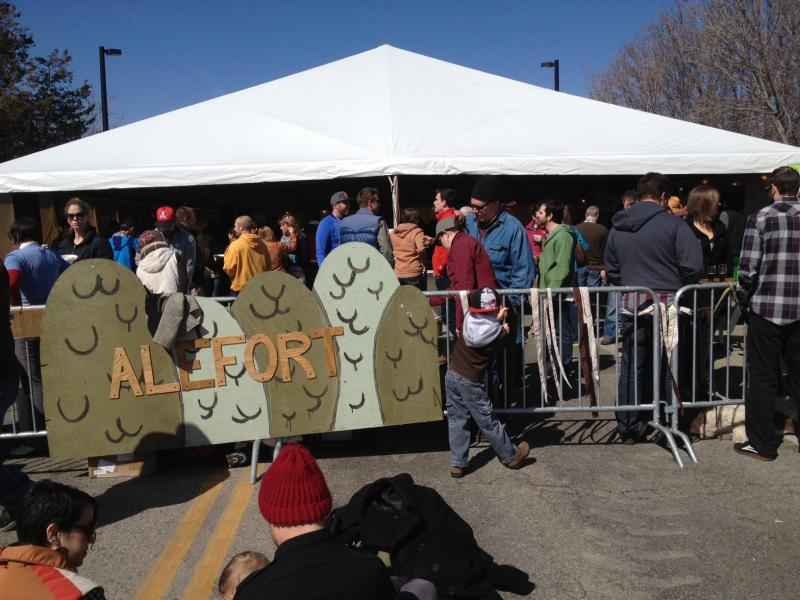 Alefort, the beer tent at Treefort, was often filled to capacity over the weekend. The tent offerred local and regional craft beers.