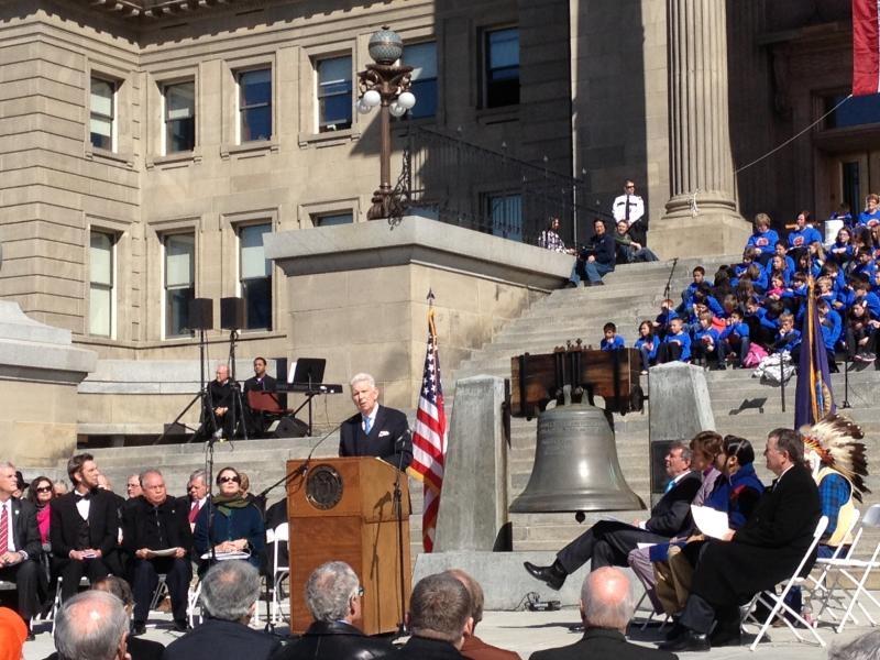 Dave Leroy was the master of ceremonies of the event commemorating the 150th anniversary of the Idaho Territory. The former attorney general has long made the case that Lincoln and Idaho are intrinsically linked.