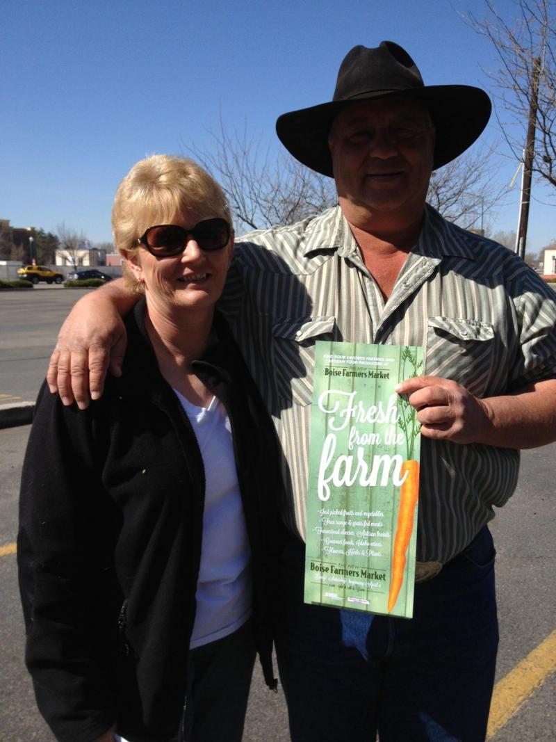Debby and Ed Willsey are part of Homestead Natural Foods. They are making the move to Boise Farmers Market this year.