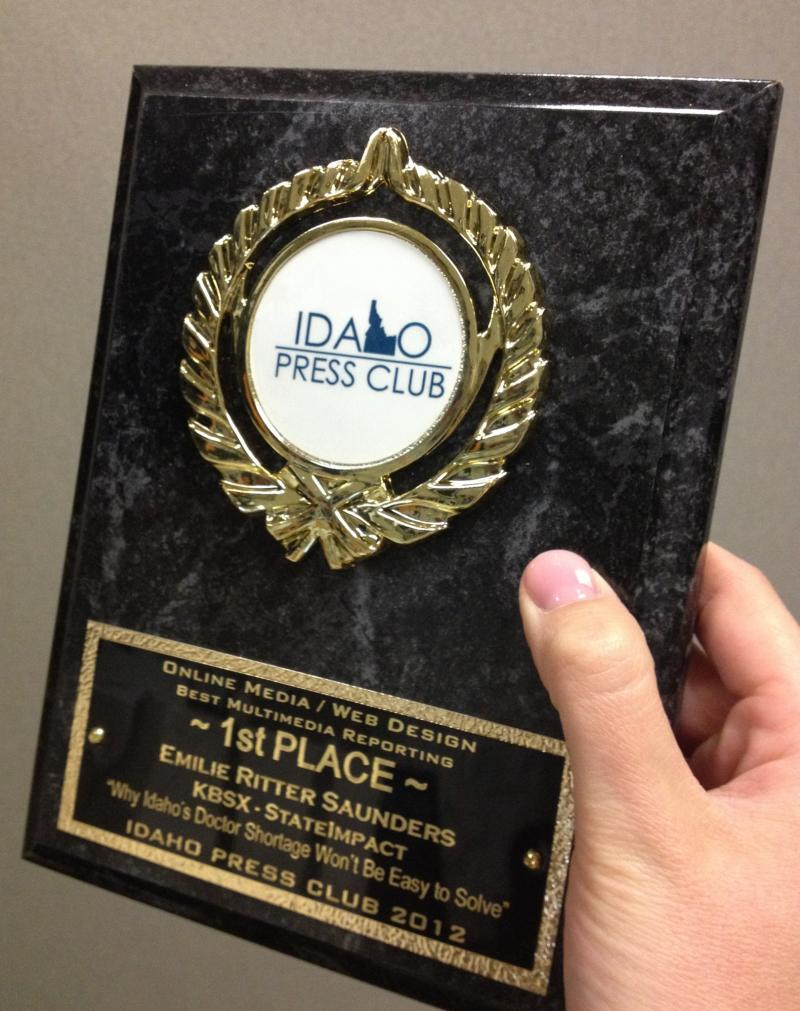 Idaho Press Club Award
