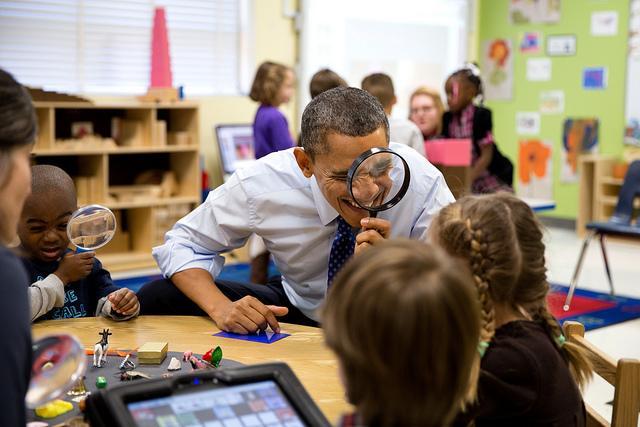 President Obama Kindergarten Class