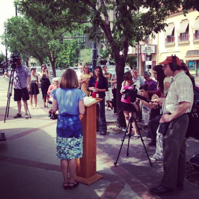 Boise City Council member Lauren McLean helps kick off StoryCorps Boise.