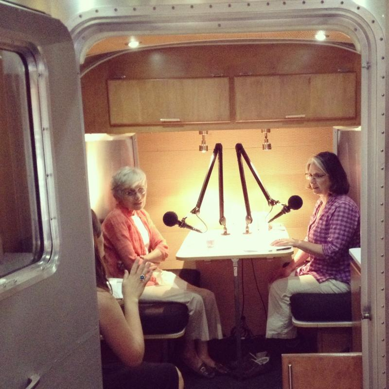 Idaho Public TV's Marcia Franklin interviews Marilyn Shuler in the first StoryCorps Boise 2013 interview.