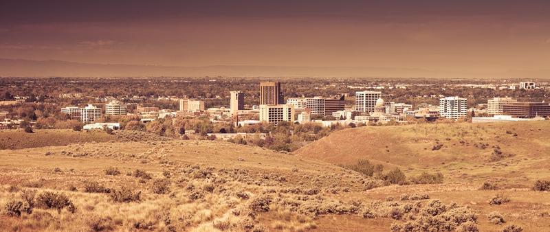 Boise, Foothills, City, Landscape