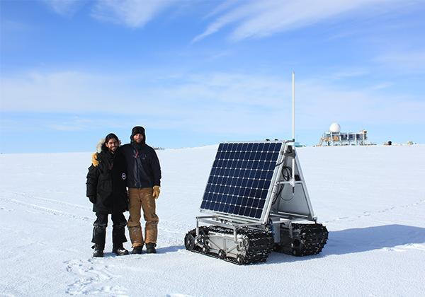 BSU grad students Gabriel Trisca and Mark Robertson spent a month with Grover in Greenland