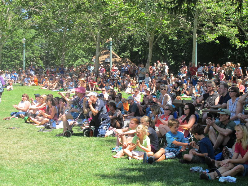 Hundreds gather at Julia Davis Park for a day of music, food, history and community. The event is a high-point in the city's year-long sesquicentennial celebration.
