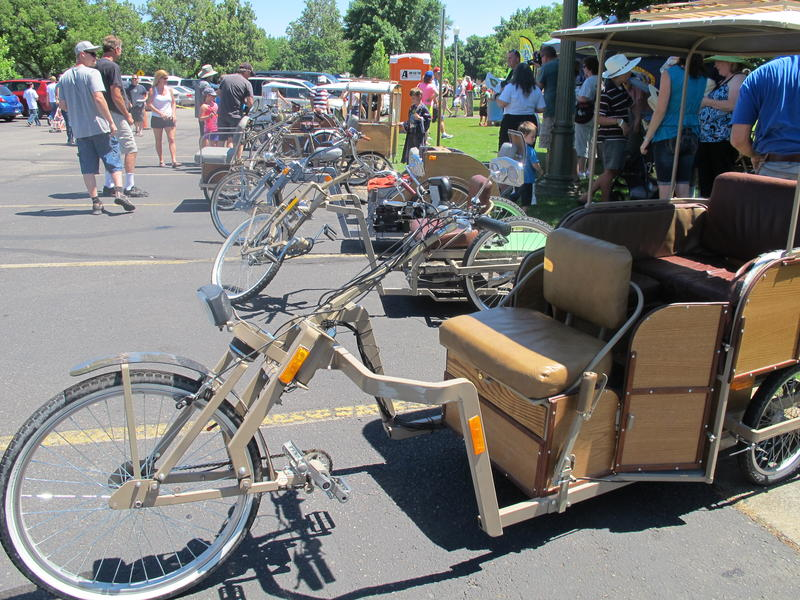 Some custom-made tricycles were also on display.