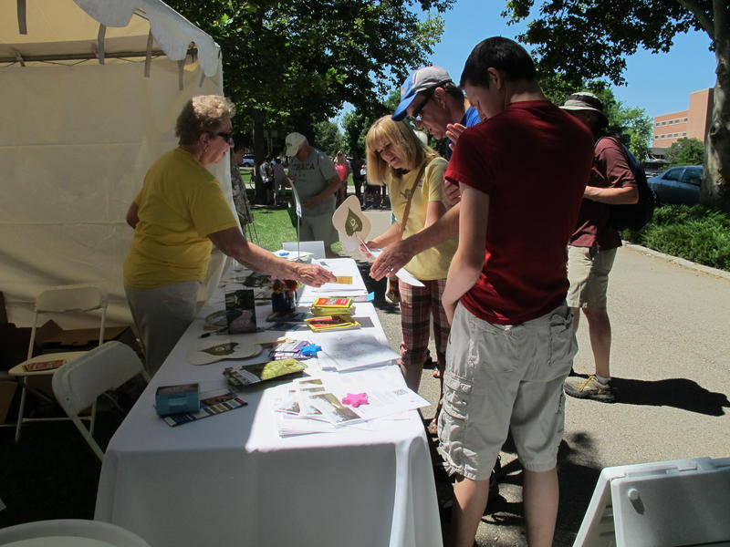 Volunteers and city employees helped direct people at the city-sponsored event.