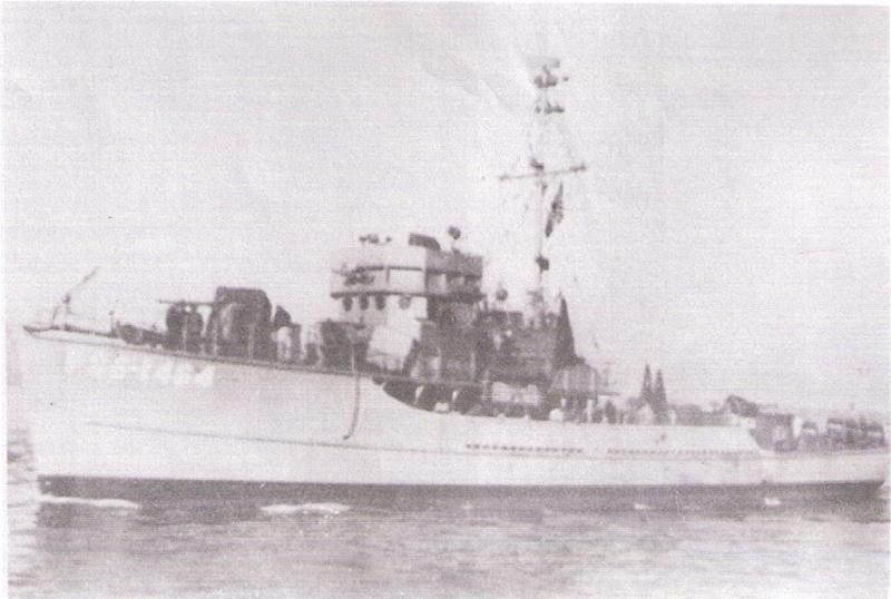 The USS Medrick minesweeper patrolled in the Pacific during World War II