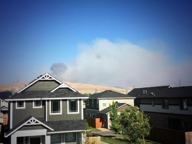 wildfire, hilltop fire