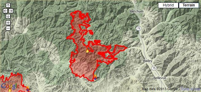 beaver creek fire map