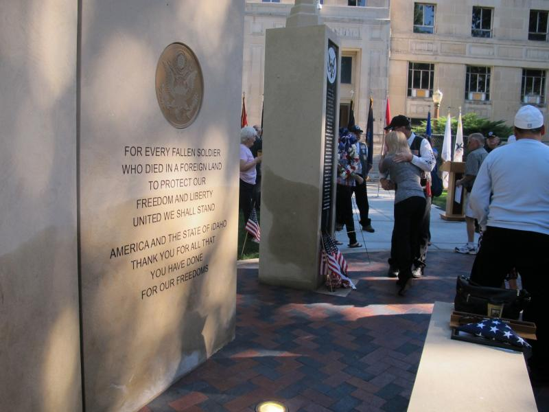Some people were emotional as they visited the Idaho Fallen Soldiers Memorial.