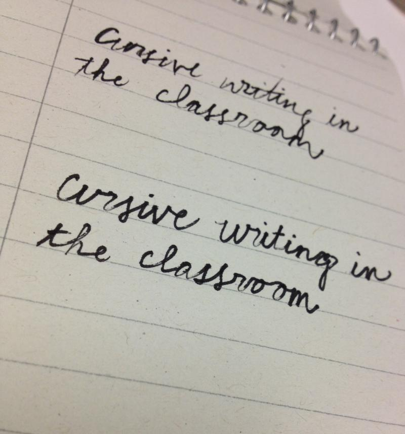 Cursive, education