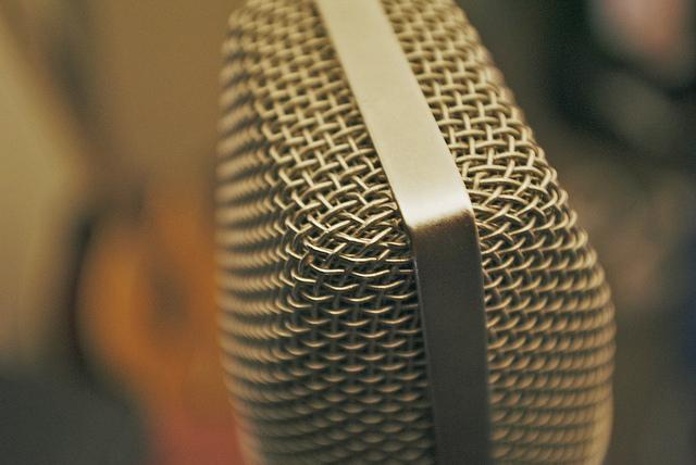 Microphone, radio, stock