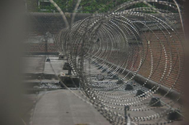 barbed wire, prison