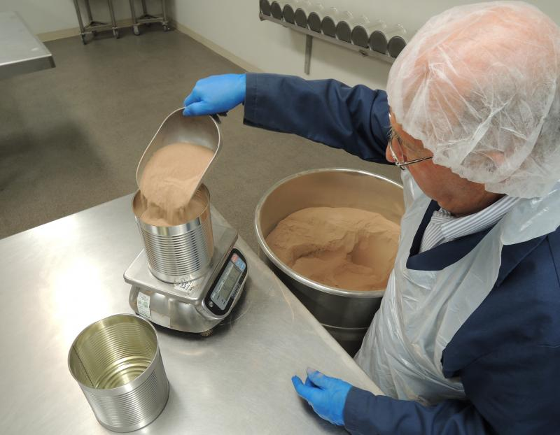 "In addition to the fruit processing operation the Garden City cannery has what's sometimes called a ""dry pack"" facility. It packages less perishable things like flour. Coco mix is popular this time of year."