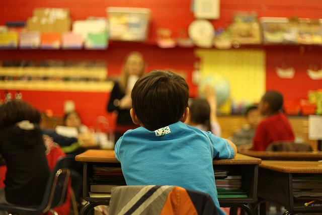 student, desk, classroom