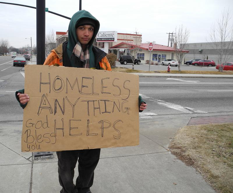 homeless, sign