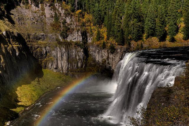 mesa falls, water, idaho