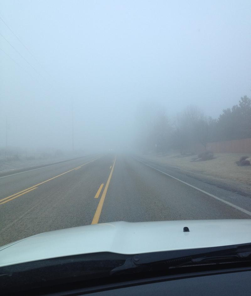 fog, traffic, road, Boise