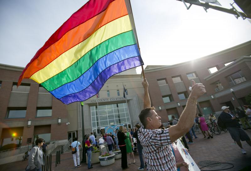 Gay rally,