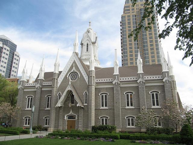 Mormon church, temple square, salt lake city