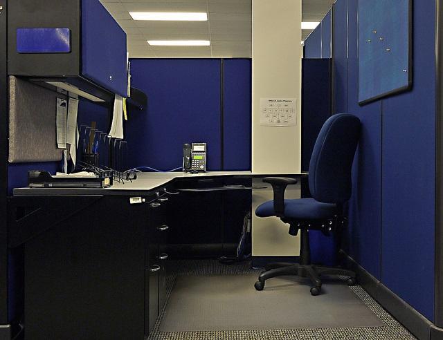 cubicle, office, desk, job