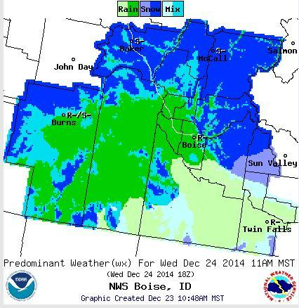 Boise Weather Map.Winter Weather Advisory Issued As Rain Snow Head For Southern Idaho