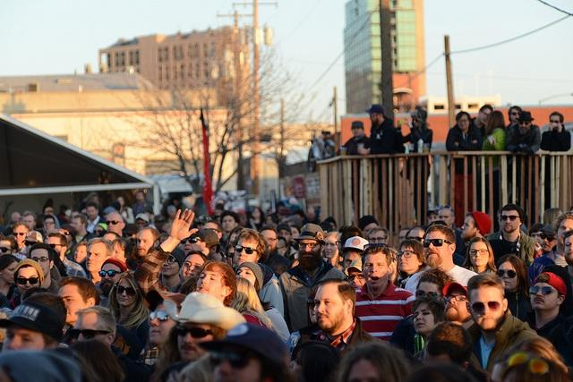 A crowd gathers at Boise's Treetfort Music Fest in March 2014.