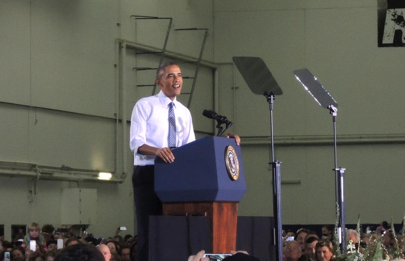 President Obama spoke to thousands of Idahoans Wednesday at the Caven-Williams Sports Complex at Boise State University.