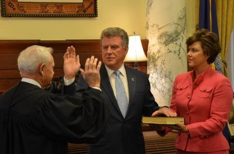 Gov. Butch Otter was sworn in for his third term Jan. 5, 2015.