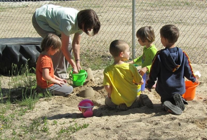 Students at Basin Elementary's public preschool do much of their learning through play.