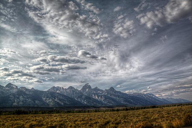 Grand Teton National Park borders eastern Idaho into Wyoming.