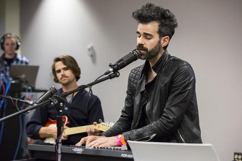"Geographer frontman Michael Deni sings from the group's new album ""Ghost Modern."""