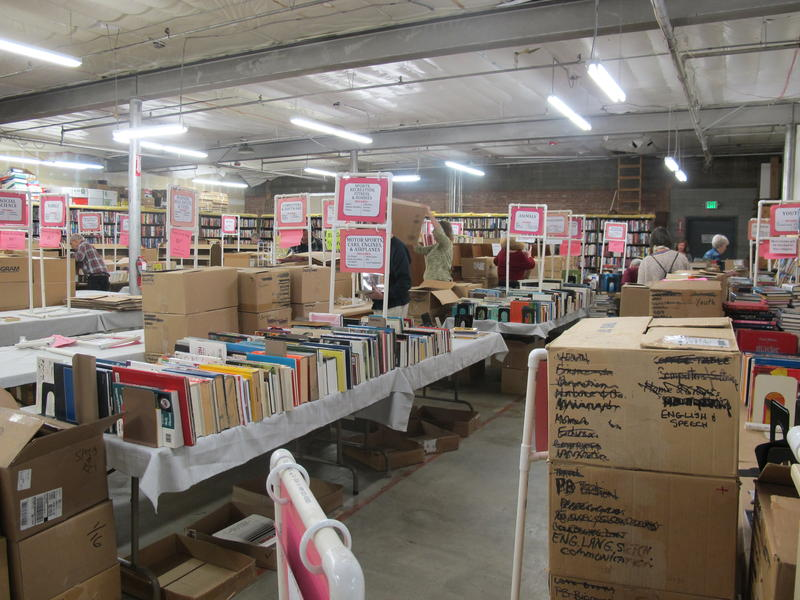 The Boise Public Library warehouse is stuffed full of 47,750 used books for sale.