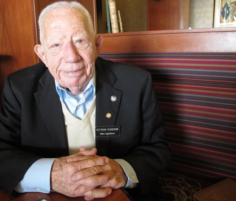 Frank Henderson was Idaho's oldest state legislator. He died Monday, April 27, 2015.