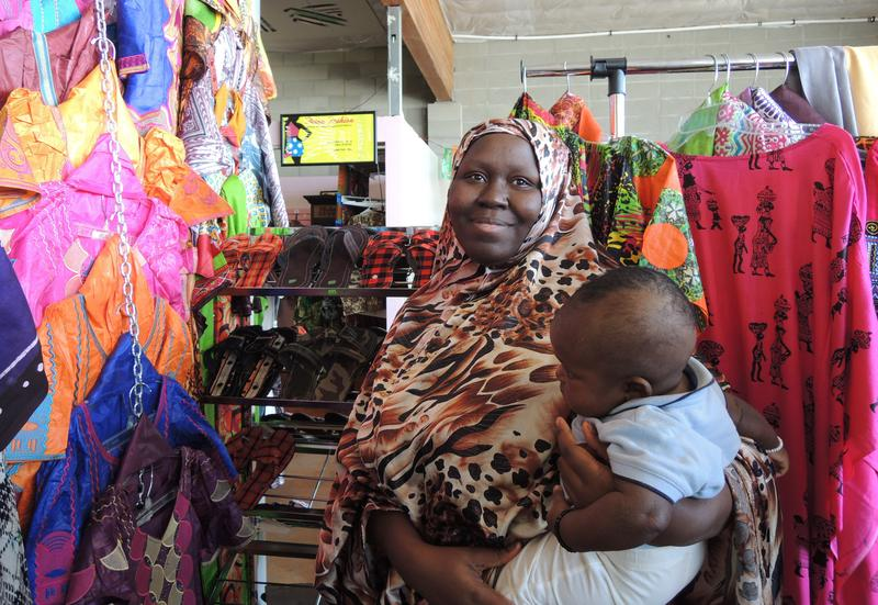 You're likely to meet the entire Mberwa family on a visit to Loba African Fashions and Produce.