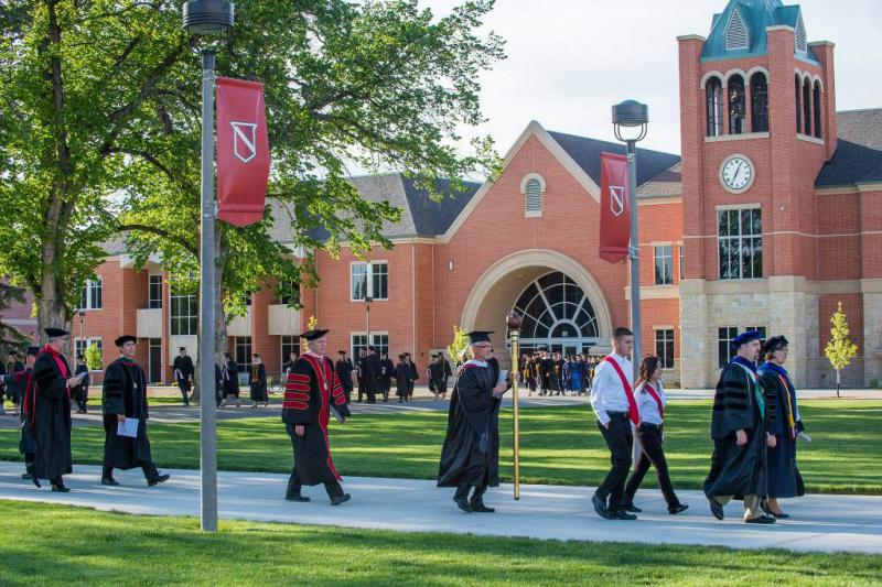 This picture from the NNU facebook page shows the campus during an alumni weekend.